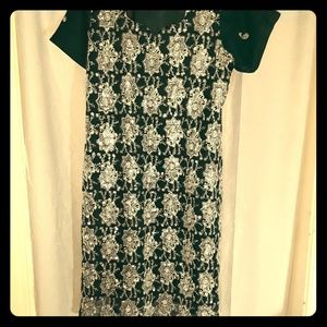 Green Sequin Short Sleeve Kurti